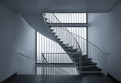 Cold lines (Halsemann.) Tags: world light berlin art architecture modern germany deutschland design licht stair floor interior space innenarchitektur hauptstadt haus architectural clean treppe future architektur sauber interiordecoration archtecture flur halsemann ralfwendrich