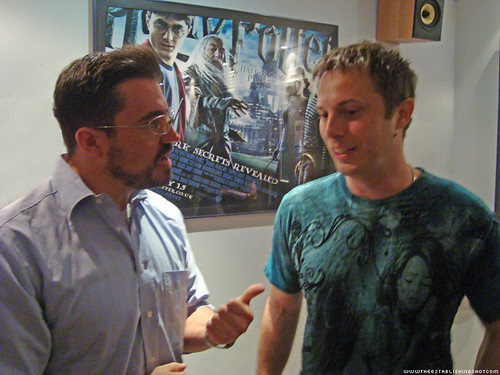 Duncan Jones & I chat about San Bell at a preview screening of Moon
