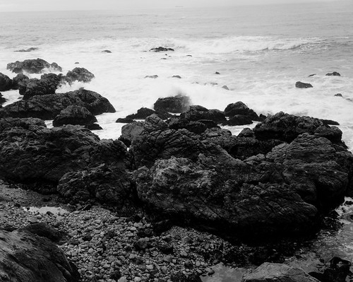 Coastal Rocks And Surf