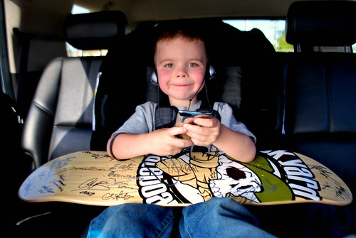 Angry Kid and his autographed deck from Clash at Clairemont
