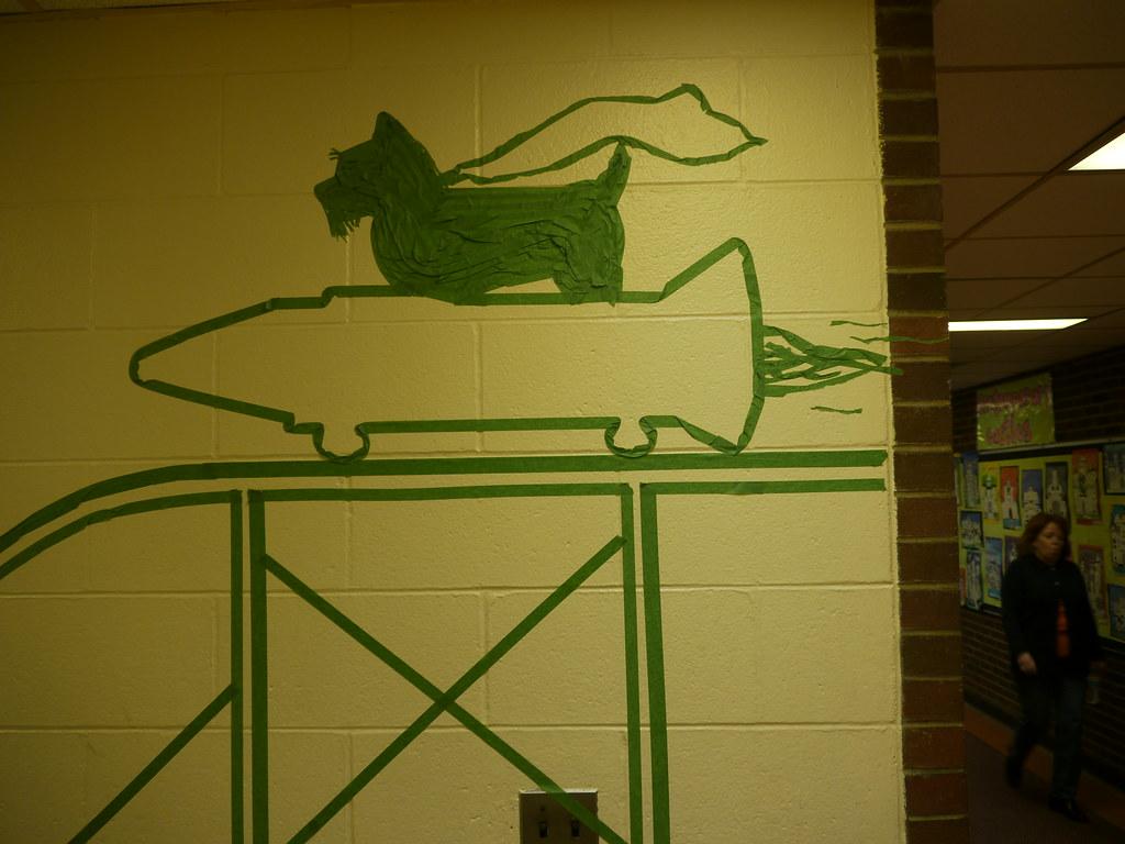 Site #5: Scotland Elementary : Tape Art