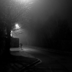 Brouillard matinal (bis) (philoufr) Tags: winter blackandwhite mist fog night square noiretblanc hiver earlymorning frontpage nuit brouillard petitmatin brume explored andrésy carréfrançais canonpowershots90