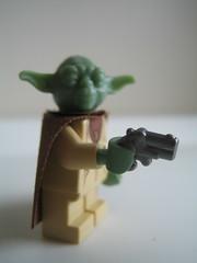 Judge me by my size do you ? (xwingyoda) Tags: yoda lego derringer brickarms brickhorizon
