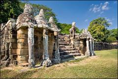 Terrace of the Elephant (Souvik_Prometure) Tags: angkorwat explore siemreap phnombakheng frontpage taphrom preahkhan banteaysrey banteaysrei banteaykdei sigma1020mm leperkingterrace elephantterrace bayontemple nikond90 terraceofleperking terraceoftheelephant souvikbhattacharya