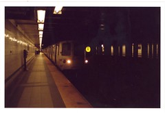 Monday Train (RE) Tags: nyc newyork color film train subway waiting tunnel trainstation contaxt2