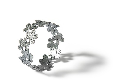 Black silver bracelet