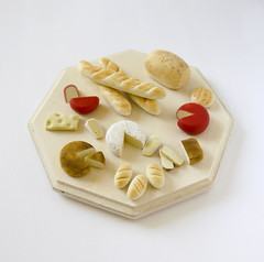 1:12 cheese plate (Frangines) Tags: food cute miniature small mini polymerclay fimo 112 dollhouse