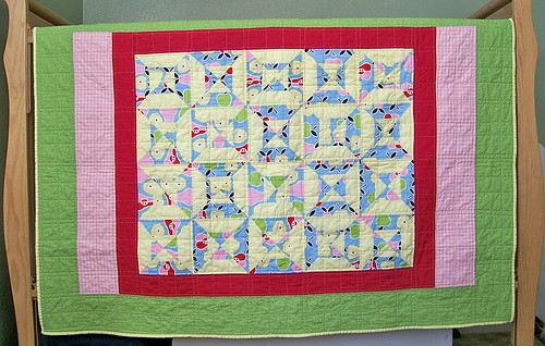 pear and apples quilt front