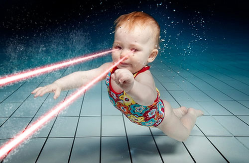 babies with laser eyes