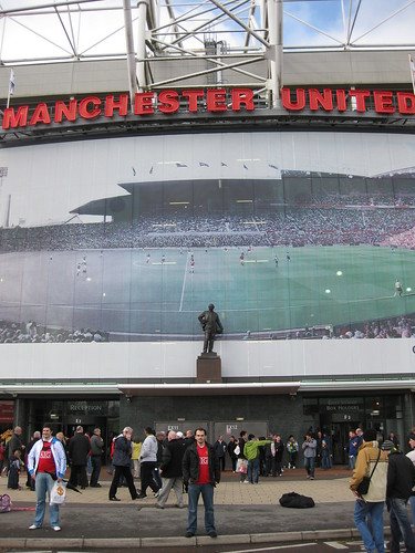 Nikos in front of Old Trafford