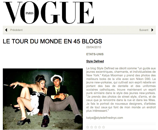 French Vogue - Style Defined