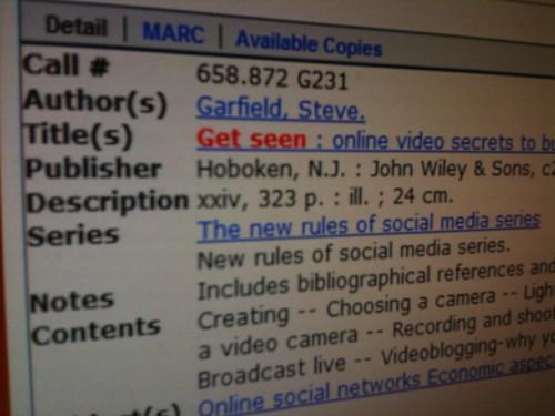 Get Seen - LA Public Library listing