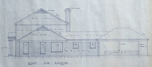 Blueprint - Right Side Elevation