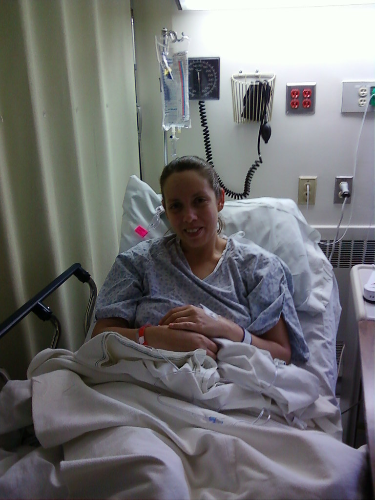 Right before getting wheeled in to the O.R.