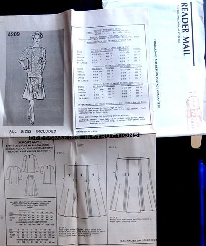 Vintage Mail Order Pattern 4209