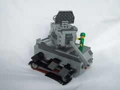 Lego Tank Left Side and Pilot (Samstego) Tags: world two war lego