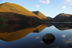 Brothers Water - Lake District (Ian Lambert) Tags: uk england mountain lake snow green water spring shadows view lakes lakedistrict sunny calm cumbria relection reflexions cumberland ambleside windermere patterdale mirrior broadwater glenridding kirkstonepass brotherswater hartstop
