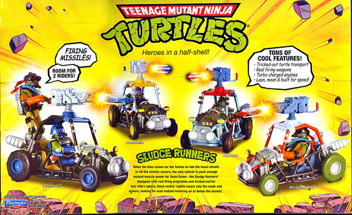 Teenage Mutant Ninja Turtles 'SLUDGE RUNNERS' :: LEONARDO ..box ii (( 2010 ))