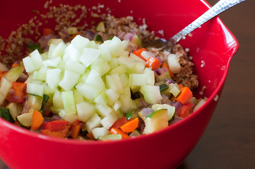 Bulgur Salad with Roasted Vegetables-3