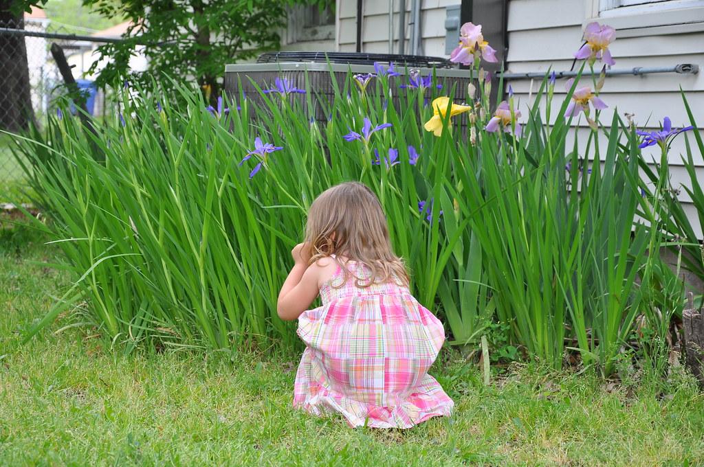 iris sniff squat