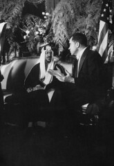 Richard M. Nixon;Saud Ibn Abdul Aziz [RF: Saudi Arabia RF] (K_Saud) Tags: dc washington king unitedstates president vice nixon richard saudi arabia talking abdul rf aziz ibn saud timeincown 937362