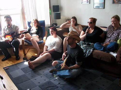 Playing Rock Band at Jason's