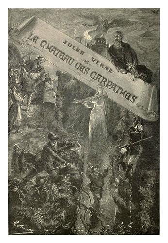 000-El castillo de los Carpatos-Cubierta-Le chateau des Carpathes-Ilustraciones de Leon Benett