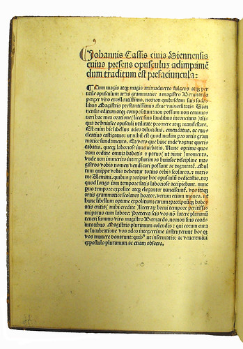 Opening page of text from Perger, Bernardus: Grammatica nova