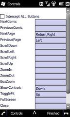 ComicReader mobi 2.0.3 Controls