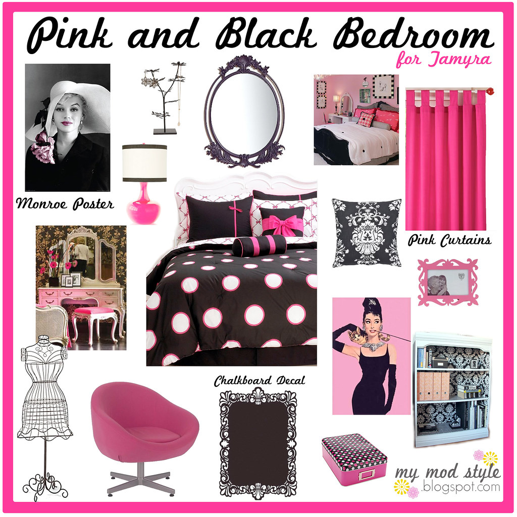 Pink & Black Apartment / Design Board