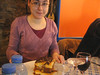 Carla col cubo di moussaka