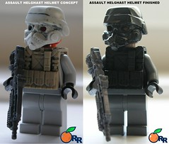 Assault Helghast helmet Finished (ORRANGE.) Tags: 2 lego helmet x assault ama orrange helghast killzone helghan sta52