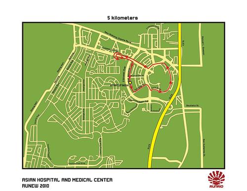 Runew 2010 - 5K Race Map