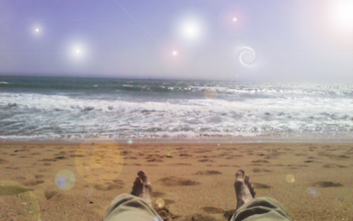 Bliss at the Beach, beach, sunset beach, California, digital art, photoshop