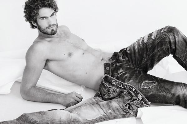 Mens jeans Black and White Branding fashion shot in the studio. Photography by Kent Johnson, Sydney Australia.