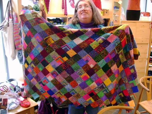 Joanne's sock yarn blanket