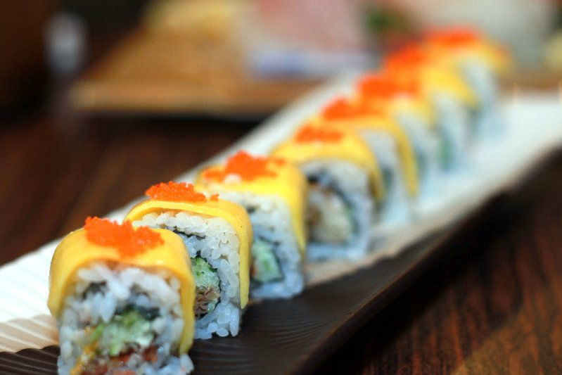 Mango & Soft shelled crab Maki