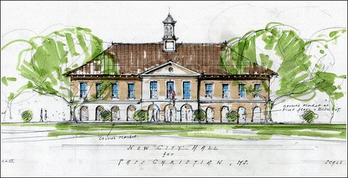 concept for a new city hall in Pass Christian (courtesy of Mississippi Renewal)