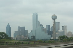 Cloudy Dallas Skyline (Adam's Journey) Tags: vacation dallas texas skylines favorites 2010 i30 interstate30 canonxsi
