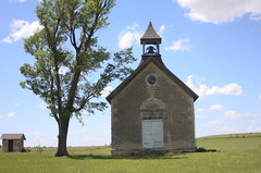 Old Stone Church (jdawn1982) Tags: blue sky tree green may kansas flinthills 2010 elmdale marioncounty 1896 stonechurch chasecounty district34 campwoodymca campwoodalumniweekend