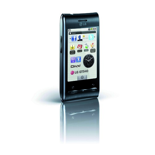 LG Optimus - GT540 noir 3-4 gauche open par LG Blog France