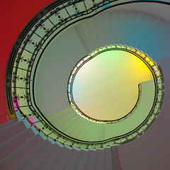 staircase (Werner Schnell Images (2.stream)) Tags: museum stairs treppe staircase siegen werner ws treppenhaus schnell colorphotoaward museumfürgegenwartskunst wernerschnell wernerschnellimages
