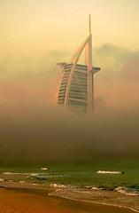 Weird mist (vathiman) Tags: mist beach dubai waves burj