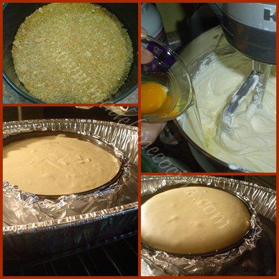 Haciendo el cheesecake