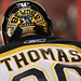 Tim Thomas #30 of the Boston Bruins