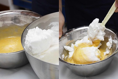Folding in the meringue