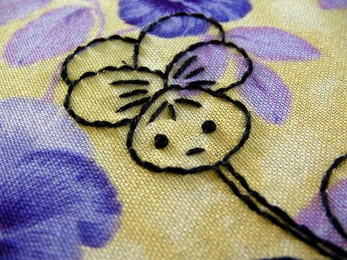 restless violet--face detail