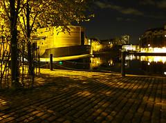 Barge at the Shore, Leith, Edinburgh (nagillum) Tags: light docks edinburgh path shore leith barge s90 nagillum