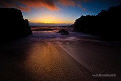 Hidden Beach Sunset (aklightplay.com) Tags: california coast bigsur highway1 nikond90