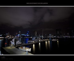 Melbourne Docklands (saahmadbulbul) Tags: colour night nice interesting nightlights australia melbourne docklands wideangleshot